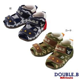 【セール40%OFF】ダブルB ミキハウス Double B by MIKIHOUSE ダブルラッセルベビーサンダル【日本製】【サンダル】【キッズ】 【ベビー】