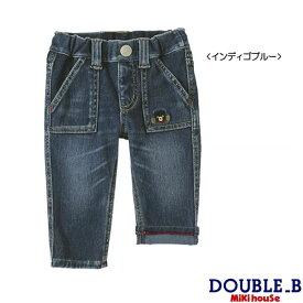 ダブルB(ミキハウス) 本格的デニム風!ストレッチニットデニムパンツ Double B by MIKIHOUSE 【キッズ】 【30%OFFセール】