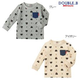 ダブルB(ミキハウス) デニムポケット付き総柄長袖Tシャツ Double B by MIKIHOUSE 【ベビー】【キッズ】
