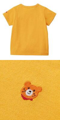 ホットビスケッツ(ミキハウス)HotBiscuitsbyMIKIHOUSEポイント刺繍入り半袖Tシャツ【ベビー】【キッズ】