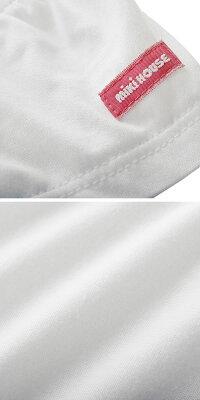 ミキハウスMIKIHOUSEうさこミニワッペン付き半袖ブラウス【日本製】【ベビー】【キッズ】