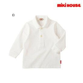 ミキハウス MIKIHOUSE 長袖ポロシャツ【日本製】【メール便可】