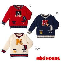 【MHフェア】ミキハウスMIKIHOUSEプッチーカレッジ風セーター【送料無料】