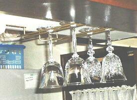 グラス吊り金具ワイングラスホルダー 全長30センチ(仙徳色・ブラウン・黒からお選びください)