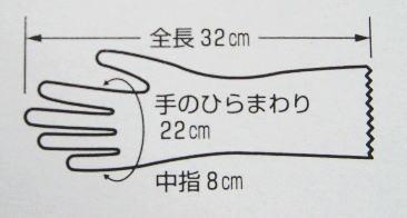 ショーワの手袋ナイスハンドLサイズ抗菌防臭加工!しっかりとした厚みのある家庭用手袋