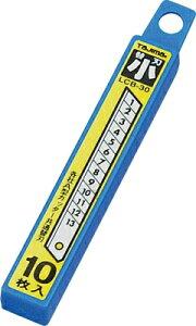 カッター替刃 サイズ小(タジマツール) 10枚入り 各社小サイズのA型カッターの替え刃として使用できます。 30個まで1通のメール便OK!