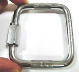 ステンレス 四角リングキャッチ 線径8ミリ 内径61ミリ×54ミリ メール便可