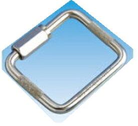 ステンレス 四角リングキャッチ 線径6ミリ 内径49ミリ×41ミリ メール便可