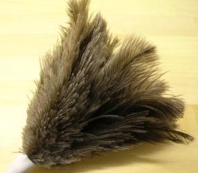 ハタキ(ホコリ払い)柔らかなダチョウ毛です。