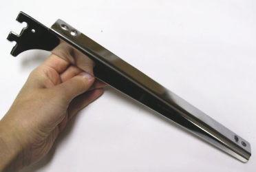 ロイヤルA−32、33木棚板専用ブラケットウッドブラケット左右セット(お取り寄せ商品)クローム呼び名250(実寸法257ミリ)