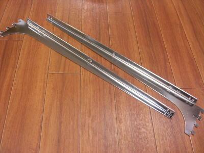ロイヤル木棚板専用ブラケットウッドブラケット左右セットクローム呼び名550(実寸法557ミリ)