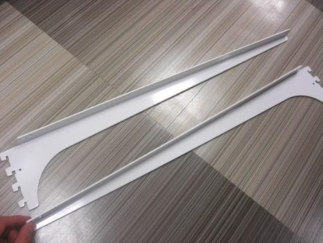 ロイヤル木棚板専用ブラケットウッドブラケット左右セットAホワイト呼び名550(実寸法557ミリ)