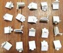 白い棚受けレールの爪(スチールに白塗装)【お得!】20個セット(使用できるレールは255-72-WHのみです)