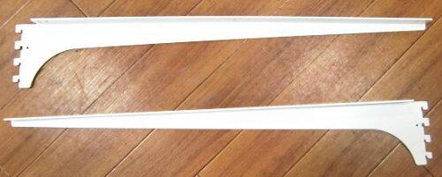 ロイヤル木棚板専用ブラケットウッドブラケット左右セットAホワイト呼び名600(実寸法607ミリ)
