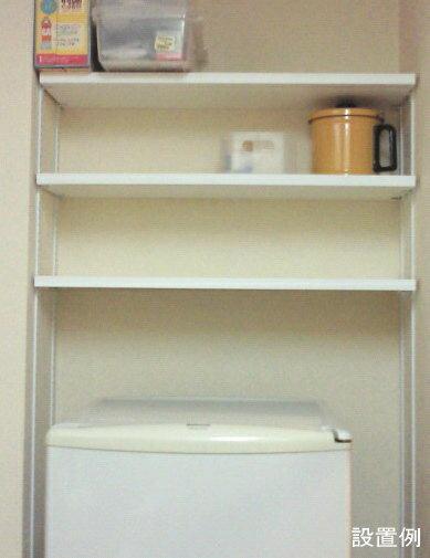 ステンレス棚受けレール(ダボレール・ダボ柱)ホワイト塗装「1820ミリ×1本単位での販売で、必ず途中カットさせていただく形になります。」