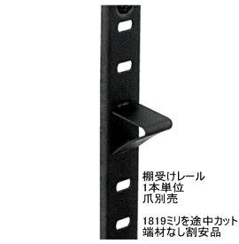 ステンレス棚受けレール(ダボレール・ダボ柱)ブラック塗装「1819ミリ×1本を1606ミリ×1本以下サイズにカット 端材なし割安品」