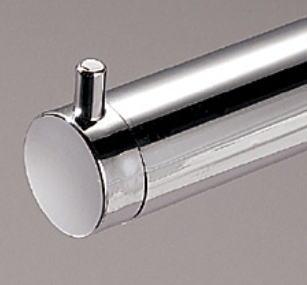 ロイヤル25ミリ丸パイプに使用するエンドキャップ(単品)フラットロコキャップデコクロームメール便可