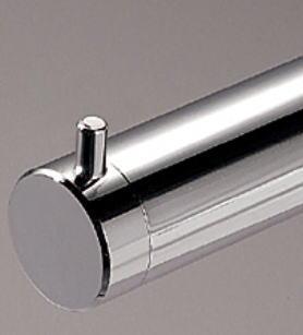 ロイヤル25ミリ丸パイプに使用するエンドキャップ(単品)フラットロコキャップクローム16個まで1通のメール便可