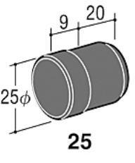 ロイヤル25ミリ丸パイプに使用するエンドキャップ(単品)ゴム製のソフトキャップ