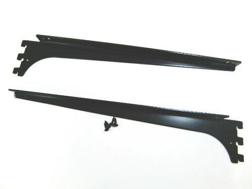 ロイヤルA−32、33木棚板専用ブラケットウッドブラケット左右セットAブラック呼び名350(実寸法357ミリ)