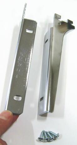 ロイヤルA−32、33木棚板専用ブラケットウッドブラケット左右セットクローム呼び名150(実寸法157ミリ)