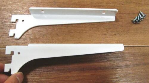 ロイヤル木棚板専用ブラケットウッドブラケット左右セットAホワイト呼び名150(実寸法157ミリ)4組まで1通のメール便可