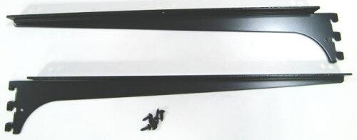 ロイヤル木棚板専用ブラケットウッドブラケット左右セットAブラック呼び名400(実寸法407ミリ)