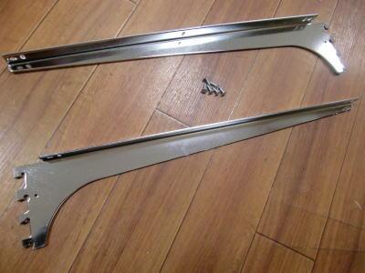 ロイヤルA−32、33木棚板専用ブラケットウッドブラケット左右セット(お取り寄せ商品)クローム呼び名450(実寸法457ミリ)