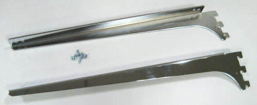 ロイヤルA−32、33木棚板専用ブラケットウッドブラケット左右セット(お取り寄せ商品)クローム呼び名350(実寸法357ミリ)