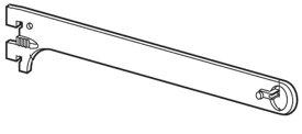 ロイヤル ハンガーブラケット タオル掛け・小物掛けにオススメの13ミリ外々用 単品販売 Aブラック 呼び名100(実寸法107ミリ)