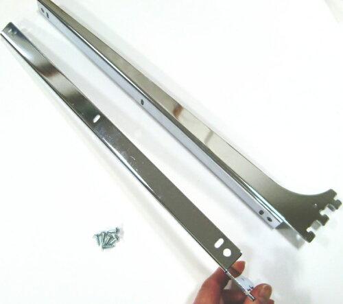 ロイヤルA−32、33木棚板専用ブラケットウッドブラケット左右セット(お取り寄せ商品)クローム呼び名400(実寸法407ミリ)