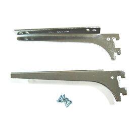 ロイヤル 木棚板専用ブラケットウッドブラケット 左右セットクローム 呼び名150(実寸法157ミリ)4組まで1通のメール便可