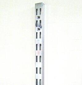 ロイヤル AWF-5 チャンネルサポートクローム 1200ミリ 便利!ダブルの棚受けレール(ガチャ柱・棚柱)1本単位の販売です。