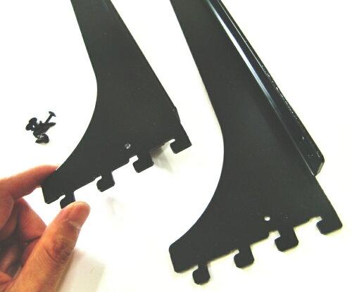 ロイヤルA−32、33木棚板専用ブラケットウッドブラケット左右セットAブラック呼び名600(実寸法607ミリ)