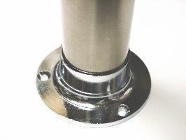 ステンレス巻きパイプ太さ25ミリ用ダイキャストクロームソケット単品