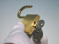 同一キーの南京錠40ミリ(単品)複数個ご購入時に便利!カギの管理も楽々♪メール便可