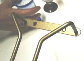 グラス吊り金具ワイングラスホルダー 全長23センチ(仙徳色・ブラウン・黒からお選びください)