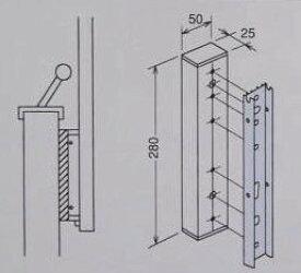 【壁からの出寸法を調整するには】アルミ台座LP型用 2袋セット(取付ネジが別途必要です。)