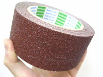屋外用すべり防止テープ すべらんテープ(アンチスキッドテープ)50mm×5m 茶色、黒、黄色からお選びください。