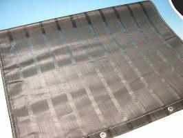 ベランダ目隠しネットかくれんぼ縦80センチ×横2メートルシルバーグレー色