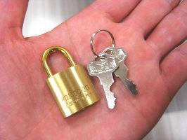 同一キーの南京錠20ミリ(単品)複数個ご購入時に便利!カギの管理も楽々♪メール便可