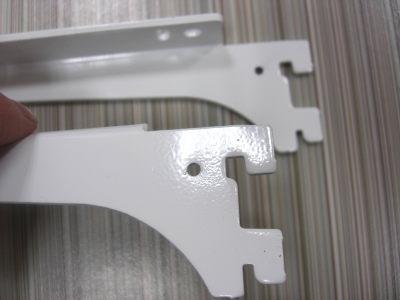 ロイヤル木棚板専用ブラケットウッドブラケット左右セットAホワイト呼び名250(実寸法257ミリ)2組まで1通のメール便可