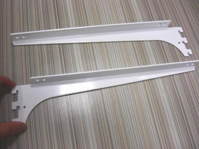 ロイヤルA−32、33木棚板専用ブラケットウッドブラケット左右セットAホワイト呼び名300(実寸法307ミリ)