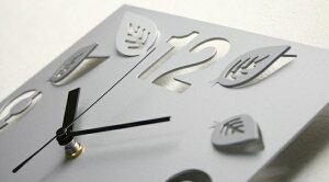 GHOステンレスレーザーカット掛け時計S-05「立体リーフ」