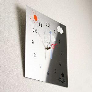 GHOステンレス掛け時計「のんびり屋」