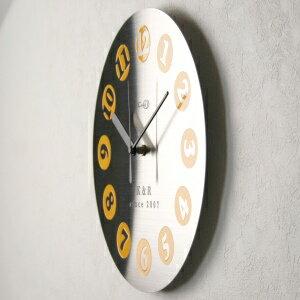 GHOステンレス掛け時計D-01