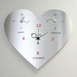 GHOステンレス掛け時計「ラブリーハート」01