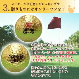 【金沢金箔ゴルフボール選べるカラー台座】おすすめ3