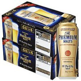 ギフト プレゼント 父の日 ビール サントリー ザ・プレミアムモルツ 500ml缶 6缶パック×4入 2ケース48本入り サントリー 送料無料