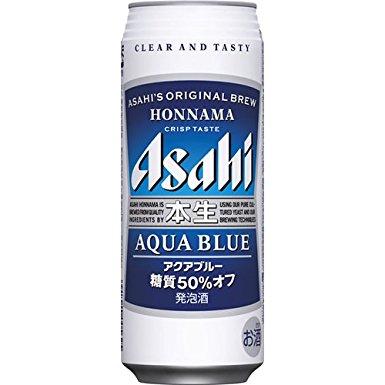 【2ケース単位】【送料無料!】(北海道、沖縄、離島地域は除く。配送は佐川急便で。)アサヒ本生アクアブルー500ML缶(6缶パック×4入=24本×2)2ケース売り